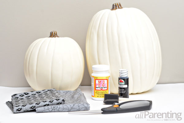 Fabric covered pumpkin materials