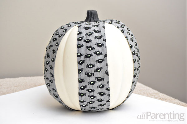 Fabric covered pumpkin step 5