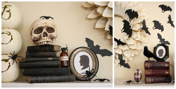 allparenting halloween mantel collage 1 - Halloween Mantle