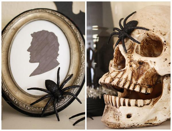 Halloween mantel collage 2