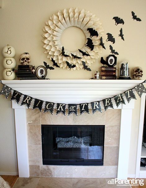 allparenting halloween mantel vertical - Halloween Mantle