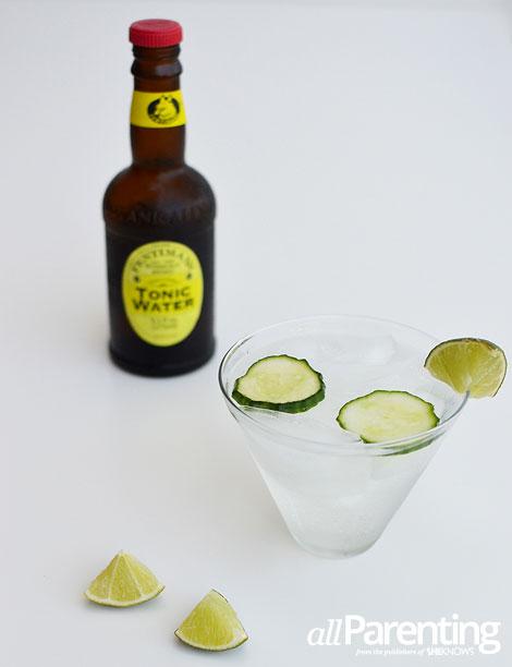 allParenting Cucumber infused vodka tonic