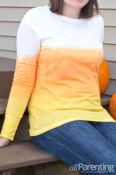 allParenting dip-dyed candy corn tshirt