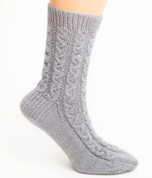 Hand-braided cable socks