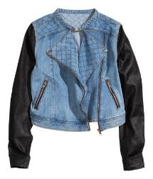 H&M Quilted denim jacket