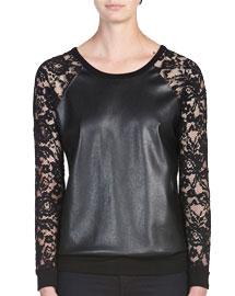 Fal leather details- Bailey44 Stolen Bride Sweatshirt Top