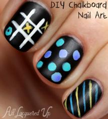Fall nail art: Chalboard nails