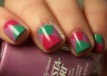 Fall nail art: Funky color block nails