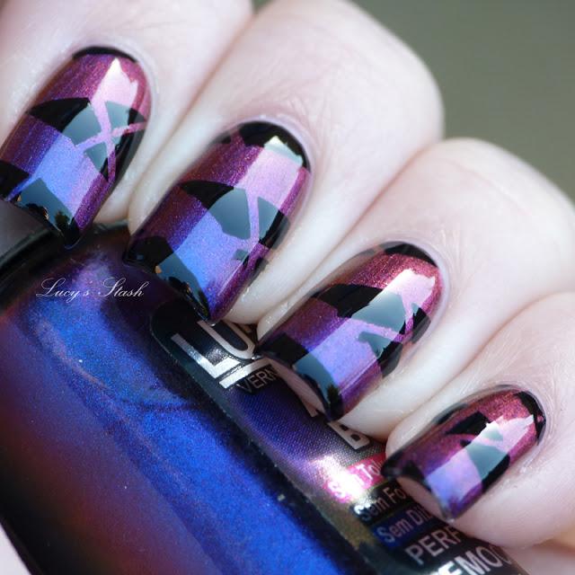 Fall nail art: Dramatic geometric nails