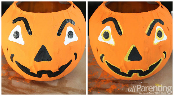allParenting paper mache pumpkins step 3