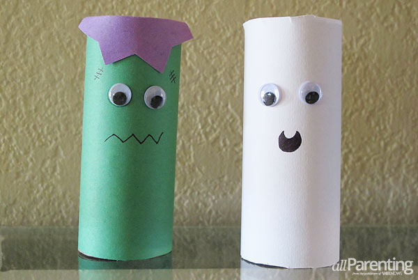 allPArenting Toilet paper roll Frankenstein and ghost