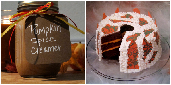 Bloggers pumpkin round up creamer and cake