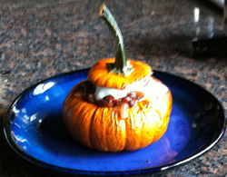 Linda Watson Pumpkins Stuffed with Spiced Tomato-Lentil Sauce