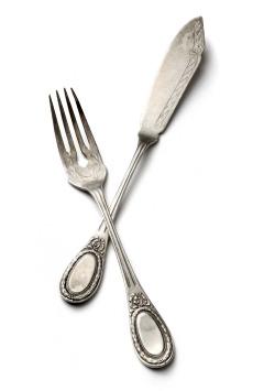 antique looking silverware