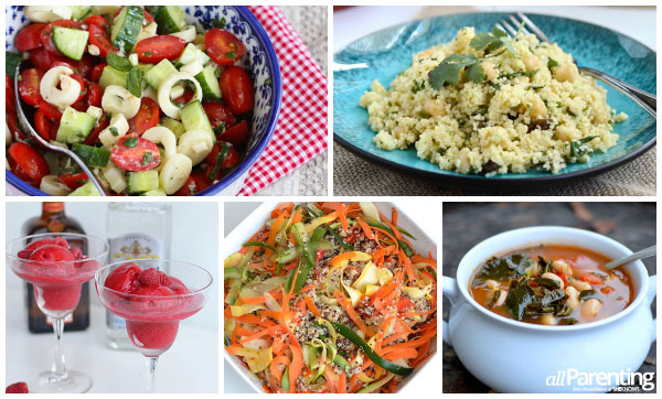 allParenting vegan recipe roundup collage