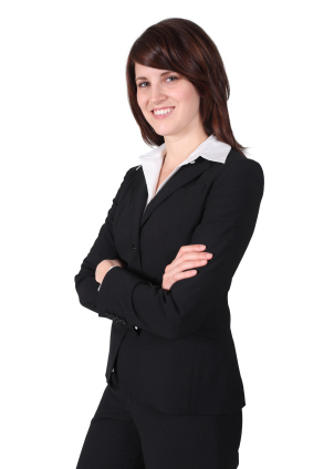 woman wearing a business suit