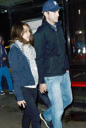 Ashton and Mila incite marriage rumors