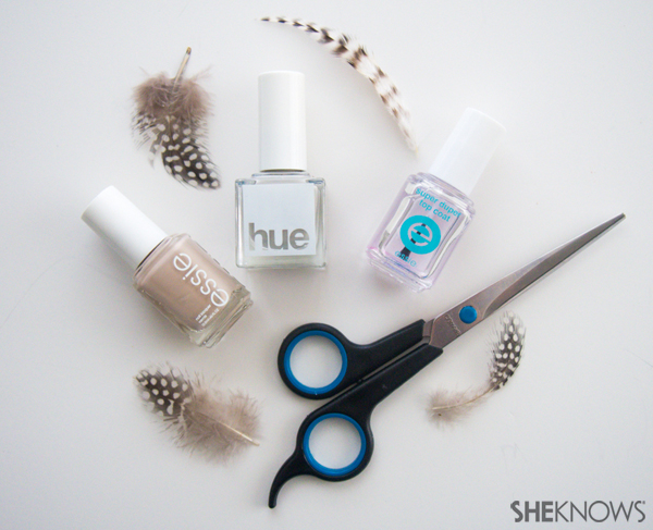 Get the look with real or painted feathers