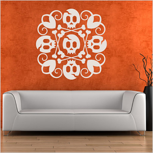 spooky wall decal