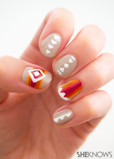 Be thankful you can rock these tribal nails!