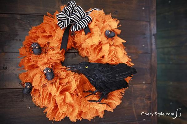 Burlap wreath for Halloween