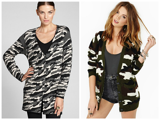 Camo cardigans for fall