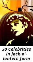 celebrities carved in pumpkins