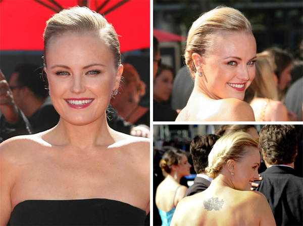 Malin Akerman's twisted updo