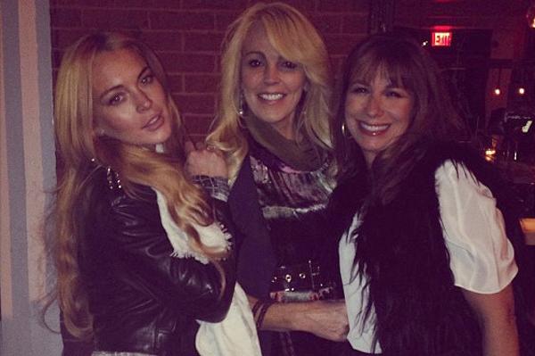 Lindsay helps celebrate mom's birthday
