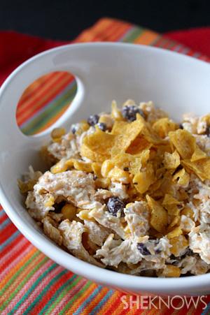 Dinner Shortcuts: Corn, chicken and frito salad