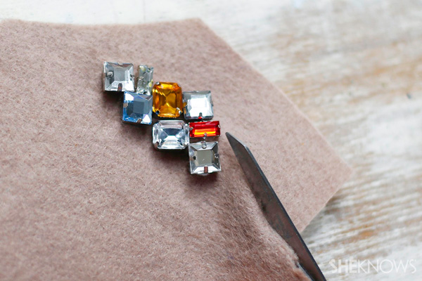 DIY Jewel-embellished hair clips | SheKnows.com