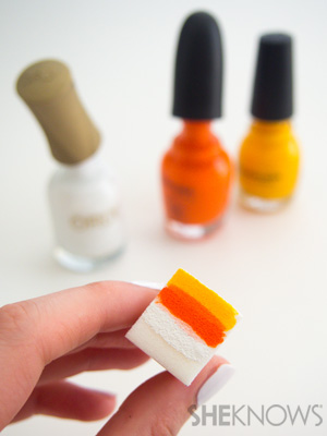 Easy candy corn gradient nails | SheKnows.com
