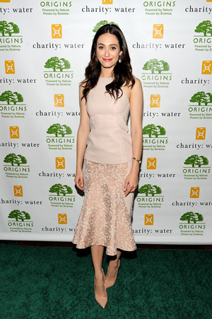 Emmy Rossum at charity: water event