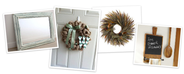 Fall artwork and wreaths