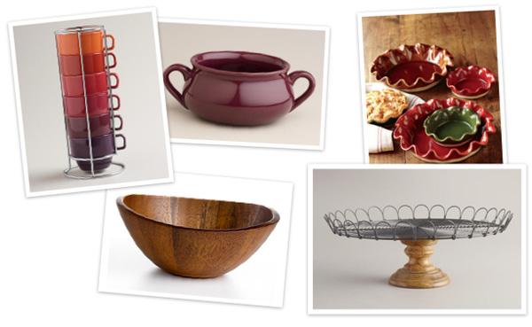 Fall plates, stemware and serveware