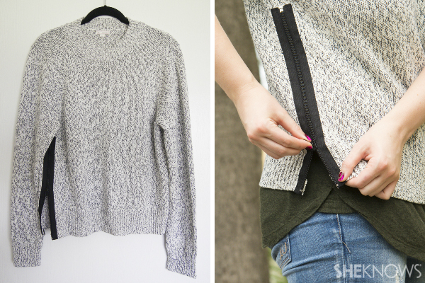 DIY zip sweater | SheKnows.com
