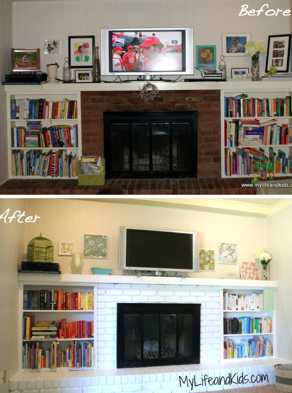 Anna Luther's fireplace makeover