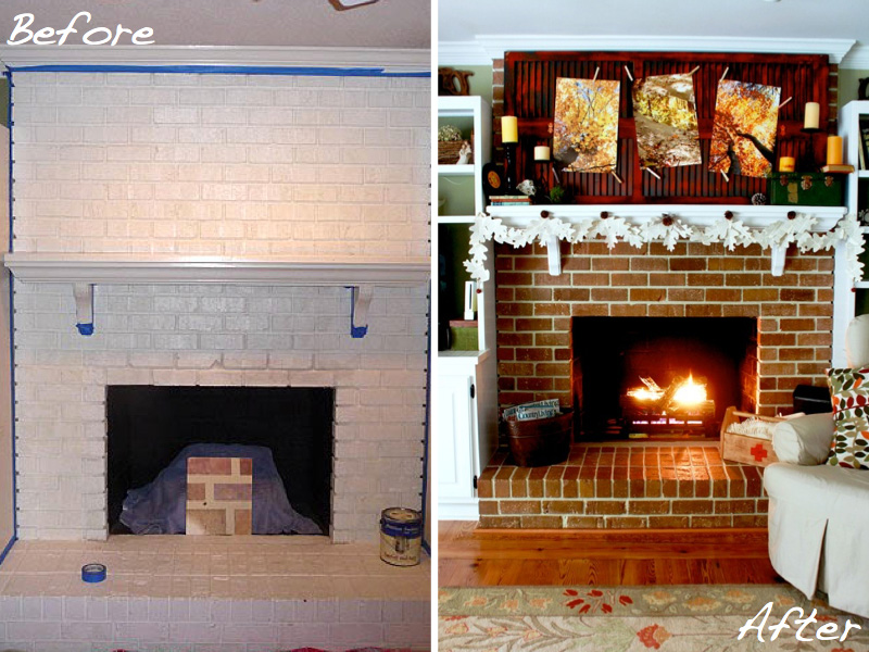 Brittany Bailey's fireplace makeover