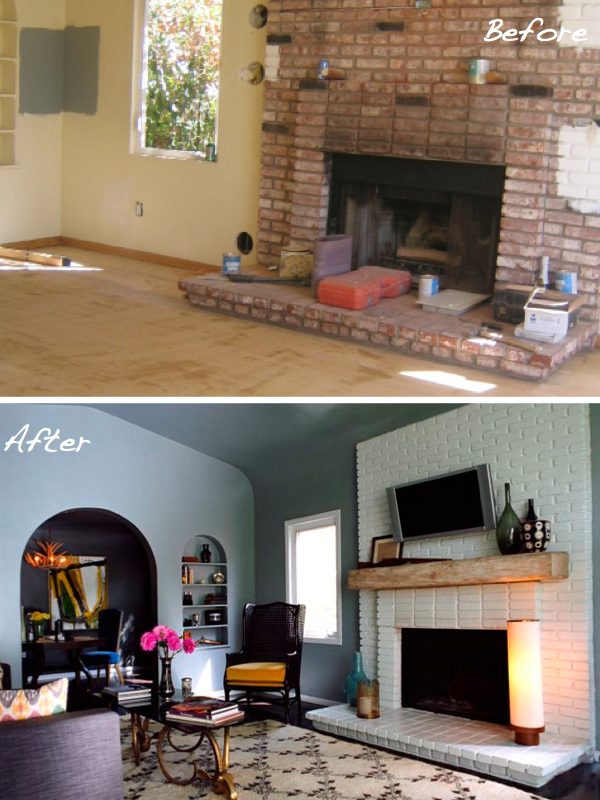 Before amp After 15 Fireplace Surrounds Made Over