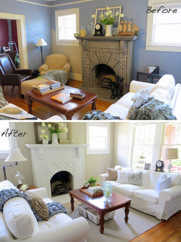 Leslie Ann Hoyt's fireplace makeover