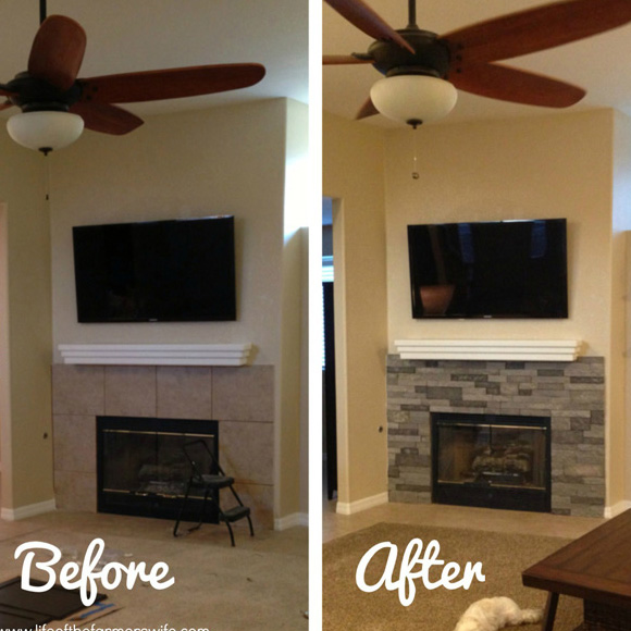 Marci Gisler's fireplace makeover