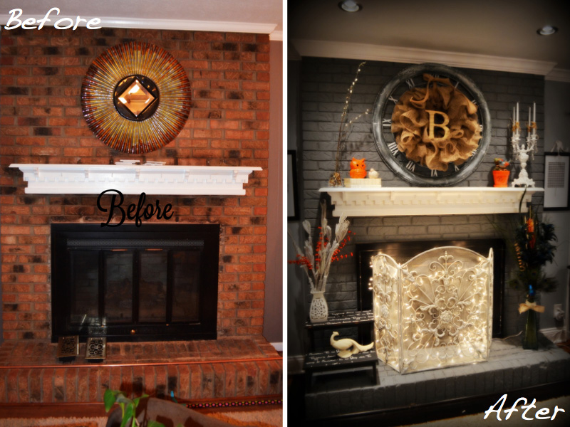 Shannon Bernestine's fireplace makeover