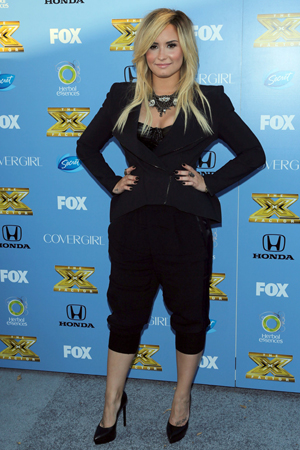 Demi Lovato at the X-Factor season three premiere party in LA