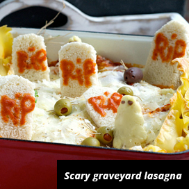 graveyard lasagna