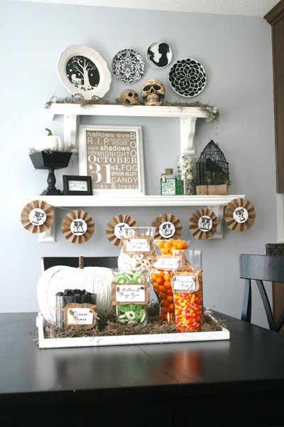 tasteful halloween decor neutrals