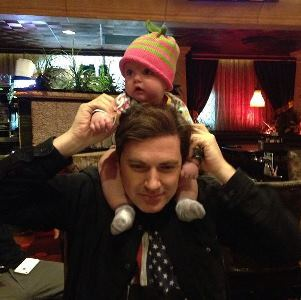 Holly Madison's husband, Pasquale, and baby Rainbow