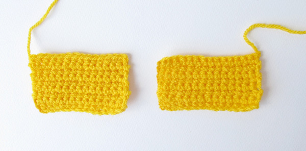 Amigurumi school bus: hood panels