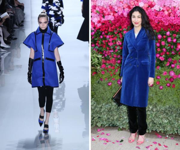 Bold blue fashion trend