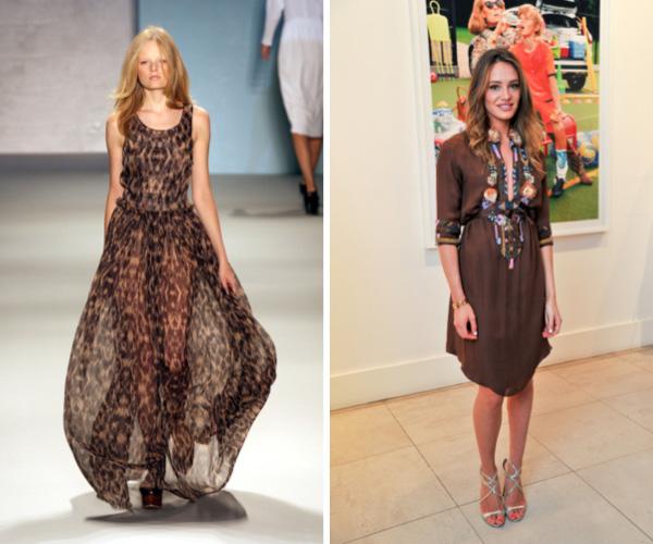 Sheer brown dress fashion trend