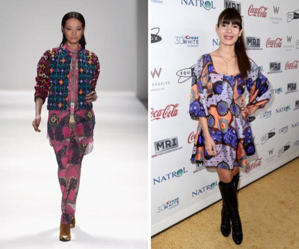Mixed prints fashion trend